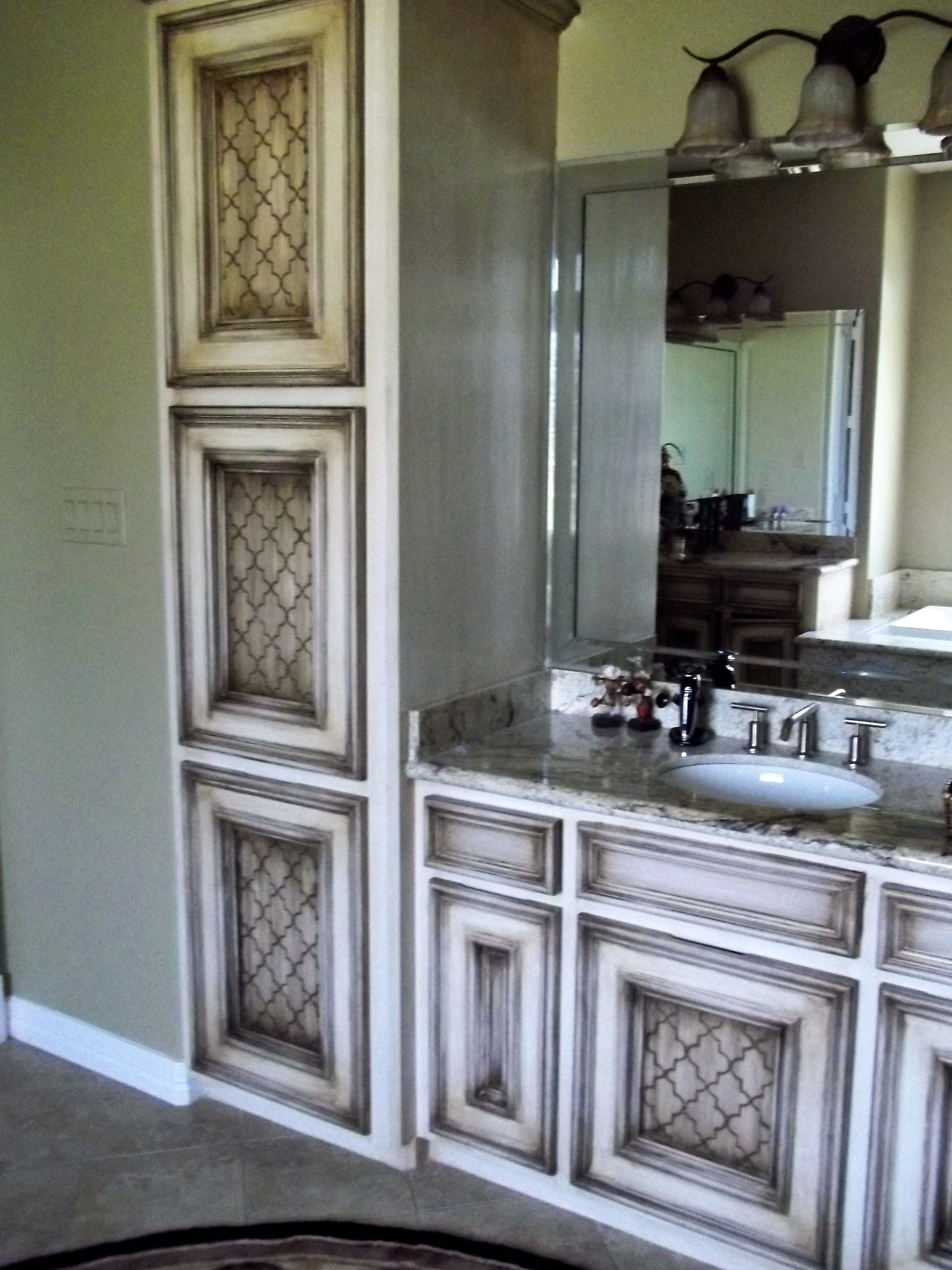 custom hand painted kitchen cabinets houston 832
