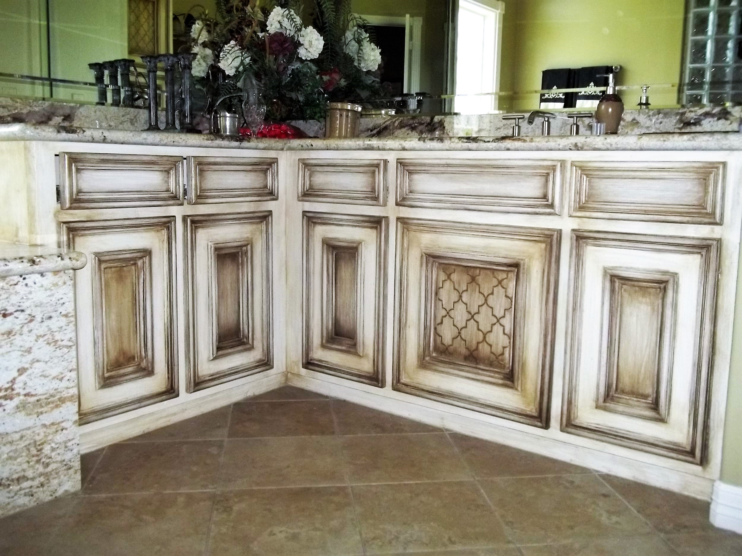 Custom Hand Painted Kitchen Cabinets